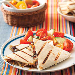 Caramelized Onion and Blue Cheese QuesadillasRecipe