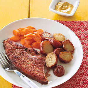 Ham Steak with Chipotle-Mustard SauceRecipe