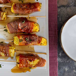 Prosciutto-Wrapped Pineapple KebabsRecipe
