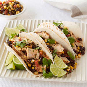 Chicken Tacos with Corn SalsaRecipe