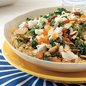 Kale-Couscous Salad with Goat Cheese and ApricotsRecipe