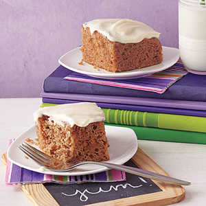 Applesauce Cake with Maple Frosting