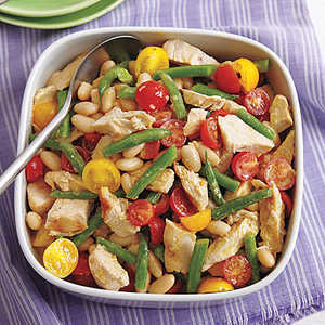 Grilled Chicken and Two-Bean Salad