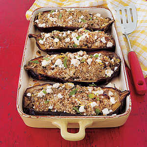 Baked Eggplant with Couscous and FetaRecipe