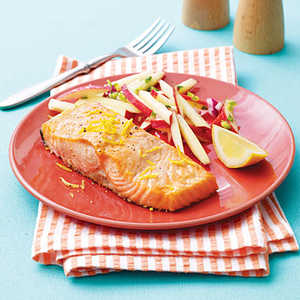 Grilled Salmon with Apple-Chipotle SlawRecipe