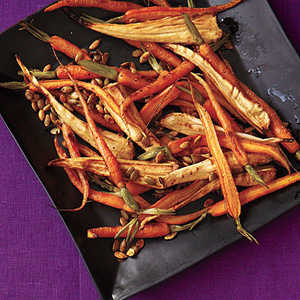 Roasted Spiced Parsnips and CarrotsRecipe