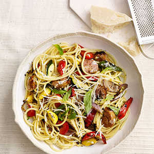Pasta with Grilled SausageRecipe