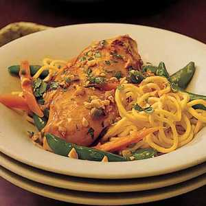Gingered Chicken with NoodlesRecipe