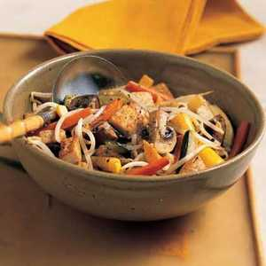 Stir-Fried Vegetables and TofuRecipe