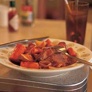 Onion-Smothered Roast Brisket and Vegetables Recipe