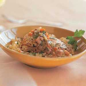 Chicken Fricassee with OrzoRecipe