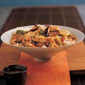 Vegetable Donburi Over Seasoned RiceRecipe