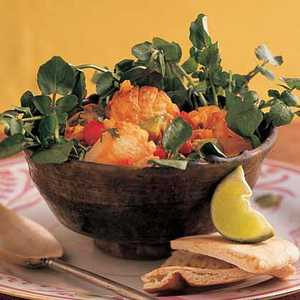 Warm Scallop Salad with Lime and CilantroRecipe