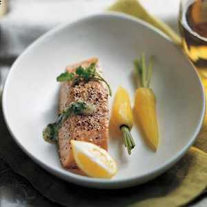 Steamed Salmon with Watercress SauceRecipe