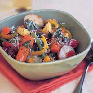 Summer Vegetable Stew with Basil PuréeRecipe