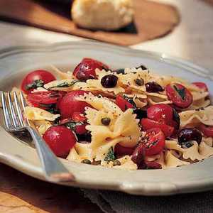Bow Tie Pasta with Cherry Tomatoes, Capers, and Basil Recipe