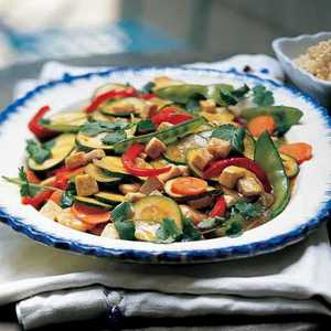Garden Vegetable Stir-fry with Tofu and Brown RiceRecipe