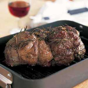 Mediterranean Roasted Leg of Lamb with Red Wine SauceRecipe