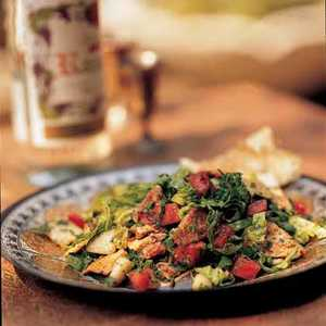 Fattoosh Mixed Herb and Toasted Pita Salad Recipe
