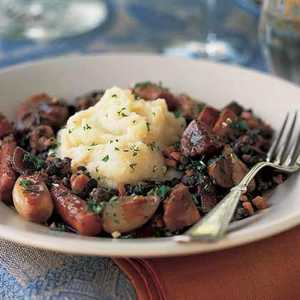 Braised Shallots and Fall Vegetables with Red Wine SauceRecipe