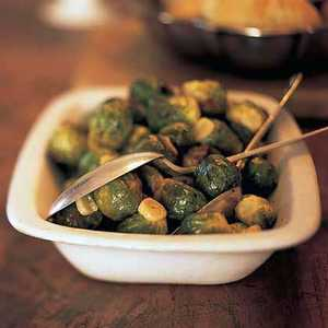 Brussels Sprouts with Browned GarlicRecipe