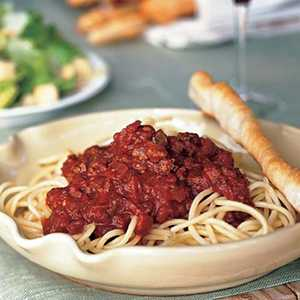 Spaghetti with Meat SauceRecipe