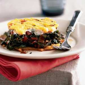 Baked Cheese Polenta with Swiss ChardRecipe
