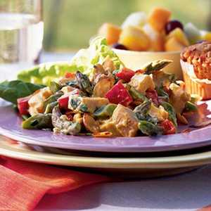 Chicken Salad with Asparagus and Toasted AlmondsRecipe