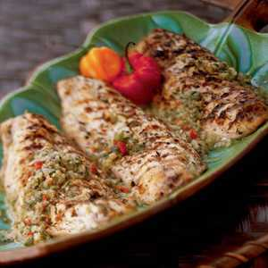 French West Indian Grilled Snapper with Caper Sauce Recipe