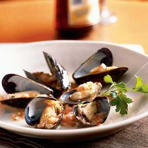 Thai-Style Mussels with Pickled GingerRecipe