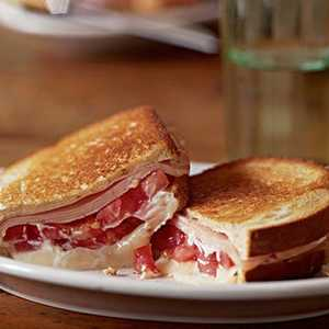 Grilled Tomato, Smoked Turkey, and Muenster SandwichRecipe