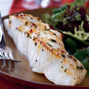 Broiled Sea Bass with Pineapple-Chili-Basil GlazeRecipe