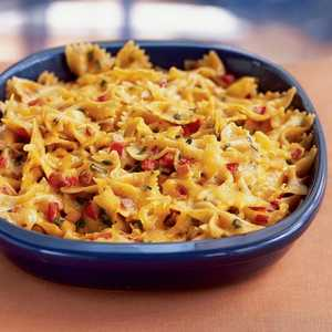 Chili and Cheddar Bow Tie CasseroleRecipe