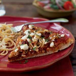<p>Caramelized Onion and Goat Cheese Pizza</p>