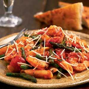 <p>Shrimp, Asparagus, and Penne Pasta</p>