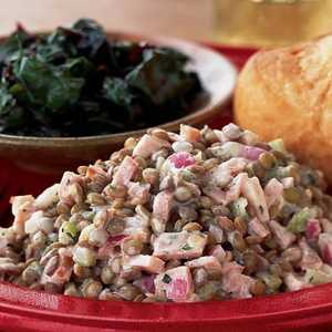 Warm Lentil-Ham Salad with Dijon CreamRecipe