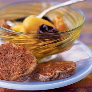 Passover Chremslach with Mixed Fruit CompoteRecipe