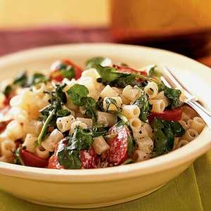 Pasta with Watercress, Tomatoes, and Goat CheeseRecipe