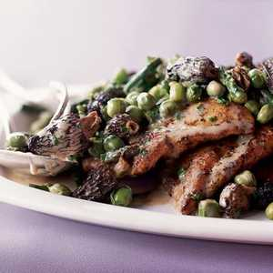 Chicken Scallopine with Morels and Spring VegetablesRecipe