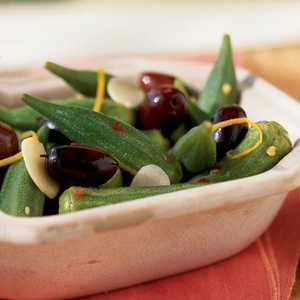 Lemon-Macerated Okra and Olives Recipe