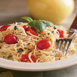 Pasta with Herbed Goat Cheese and Cherry TomatoesRecipe