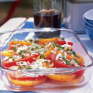 Tomato, Basil, and Fresh Mozzarella SaladRecipe