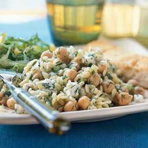 Orzo Salad with Chickpeas, Dill, and LemonRecipe