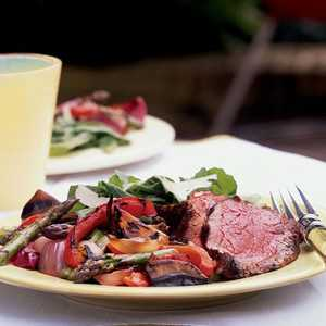 Tenderloin with Grilled Antipasto VegetablesRecipe