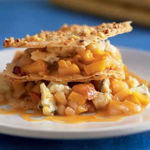 Crispy Phyllo Napoleons with Berkshire Blue Cheese, Nectarines, and PearsRecipe
