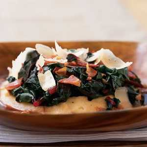 Pancetta and Swiss Chard with Soft Polenta Recipe