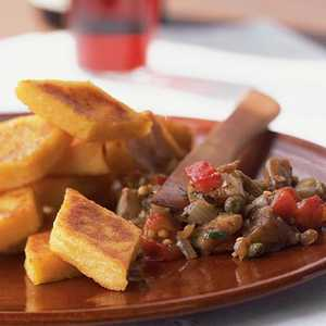 Caponata with Polenta CrostiniRecipe