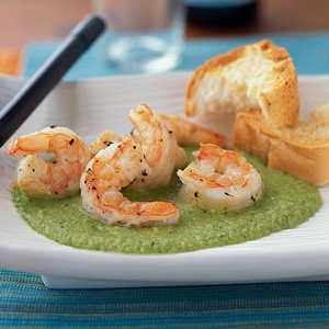 Shrimp with Sweet Pea SauceRecipe