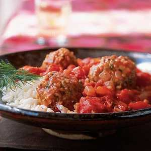 Bulgur and Lamb Meatballs in Tomato SauceRecipe
