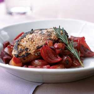 Marinated Duck Breasts with Shallot and Beet RelishRecipe